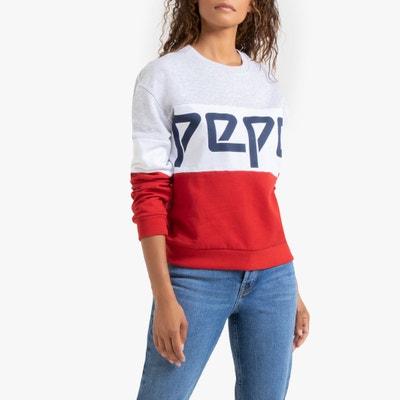 Tricolor sweater met logo Bibiana Tricolor sweater met logo Bibiana PEPE JEANS