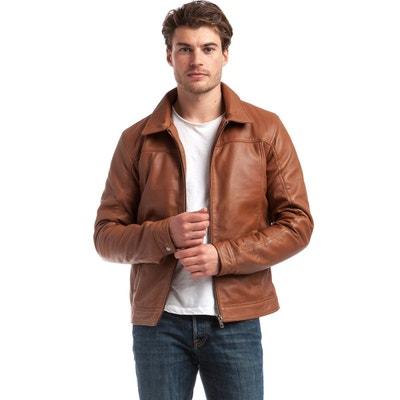 Veste col chemise en cuir d agneau Veste col chemise en cuir d agneau 9de81965512
