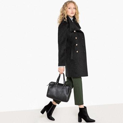 Manteau officier femme noir