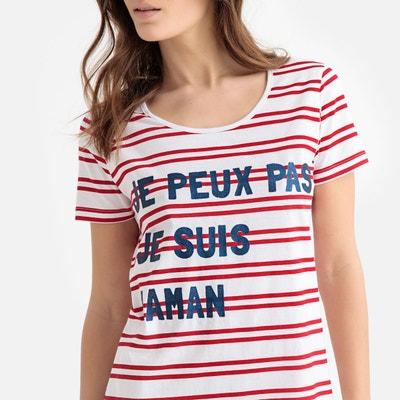 4dbec4ce50c Chemise de nuit long T-shirt pur coton Chemise de nuit long T-shirt