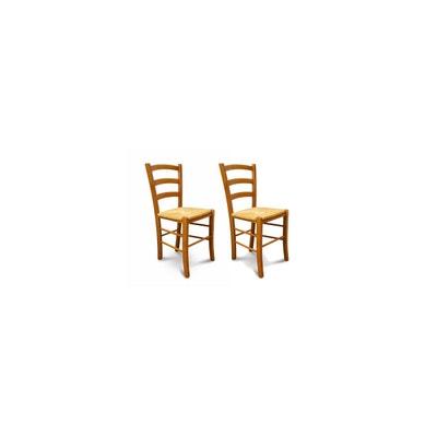 Lot De 2 Chaises TINA Assise Paille HELLIN