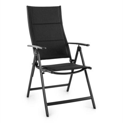 Stylo Royal Black Chaise De Jardin Pliante Aluminium Noir BLUMFELDT