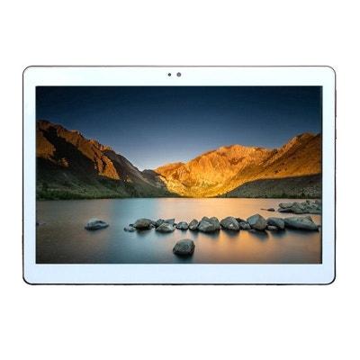 5e012c0f756a72 Tablette 10 pouces 3G Android 5.1 Lollipop Dual SIM Quad Core 16Go Blanc  YONIS