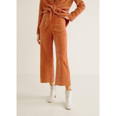 Pantalon velours milleraies poches Pantalon velours milleraies poches MANGO 4c15ff551d6