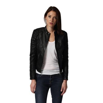 Veste en cuir et simili femme | La Redoute