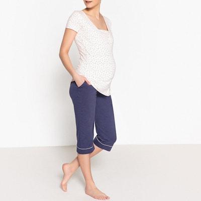 9a4b6a1f1 Pijama con pantalón pesquero para maternidad LA REDOUTE MATERNITÉ