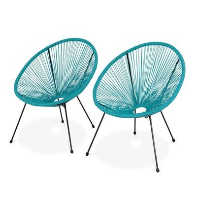 fauteuil acapulco bleu | la redoute