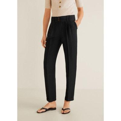 57e3744e2b1c Pantalon droit lin MANGO