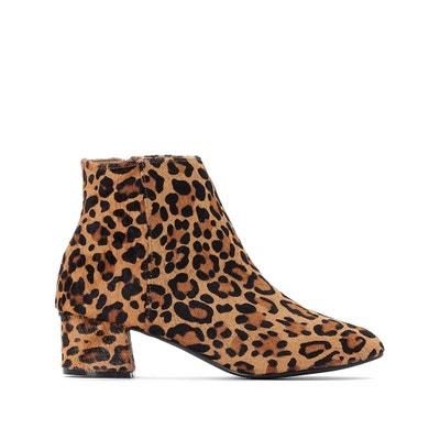 8bbf61370c0 Botines de piel, estampado leopardo LA REDOUTE COLLECTIONS