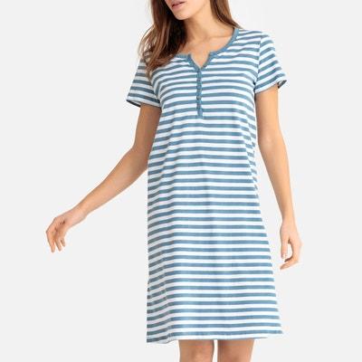 3e2602801587 Рубашка ночная средней длины из хлопка Рубашка ночная средней длины из  хлопка LA REDOUTE COLLECTIONS