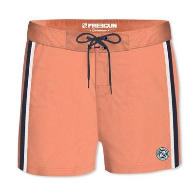 66844ed37f2ce Boardshort Court Homme Freegun Band Uni Orange FREEGUN