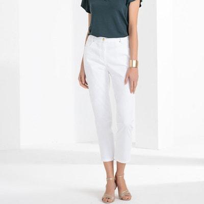 cherche pantalon blanc femme)