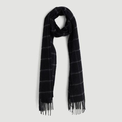 Écharpe en laine noir en solde   La Redoute 84efd029ef2