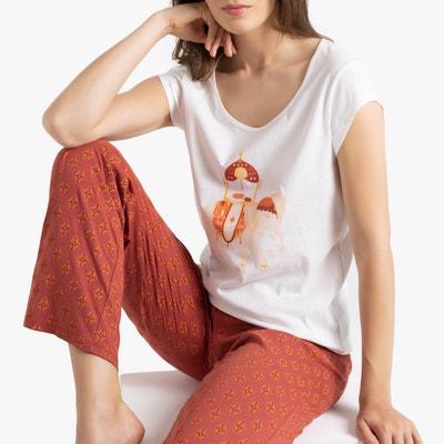 Pyjama met print en korte mouwen Pyjama met print en korte mouwen LA REDOUTE COLLECTIONS