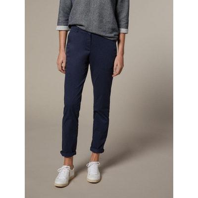 5117eedb6 Pantalon chino bleu marine femme | La Redoute