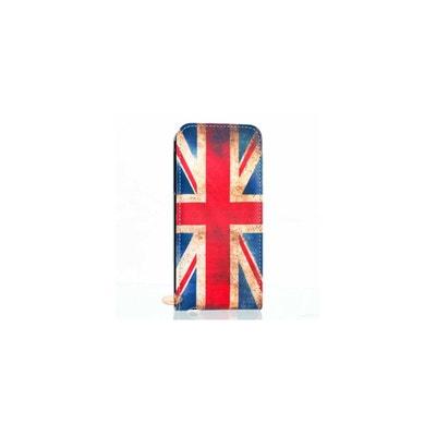 73948e7ef8a6f Housse pour iPhone 5 5S SE Drapeau Anglais Vintage (UK) AMAHOUSSE