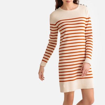 7d5ddbaa5b4e6 Breton Striped Buttoned Cotton Dress LA REDOUTE COLLECTIONS