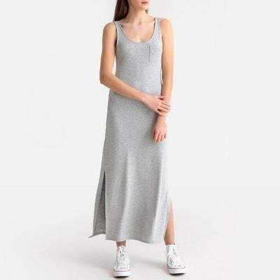 abfe3743f9 Vestido largo con tirantes finos y bolsillo en el pecho Vestido largo con  tirantes finos y