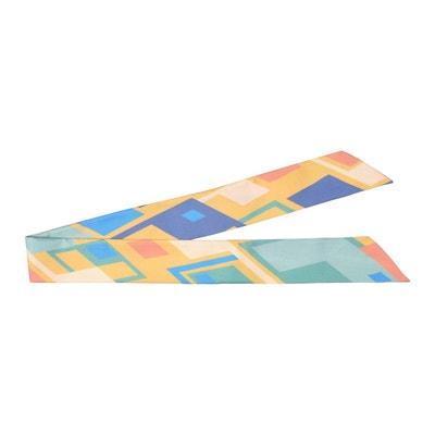 429a696b99e5 Mini foulard imprimé géométrique en twill de soie TIE RACK