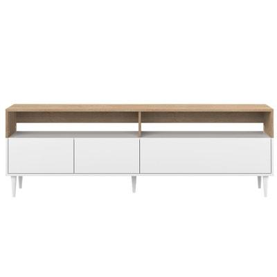 meuble tv meuble tv design blanc d 39 angle en solde la. Black Bedroom Furniture Sets. Home Design Ideas