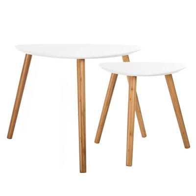 Table Basse Gigogne Blanc Laque La Redoute