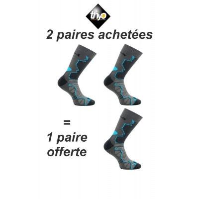 f2646d0fd6df9 2 paires + 1 gratuite chaussettes DOUBLE-TREK 2 paires + 1 gratuite chaussettes  DOUBLE