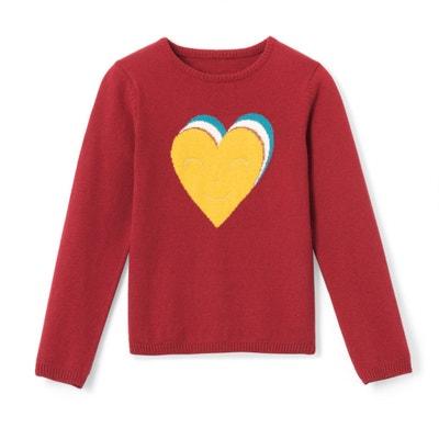 bb16258451f Pull cœur avec broderie brillante 3-12 ans Pull cœur avec broderie  brillante 3-