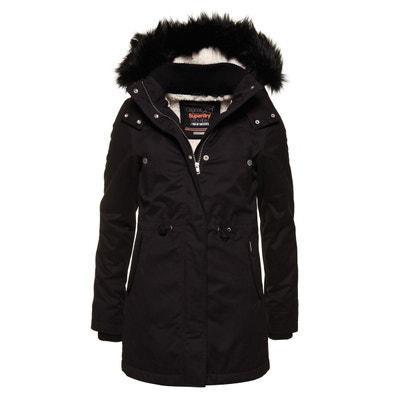 acafb24b0 Manteau femme noir capuche fourrure   La Redoute