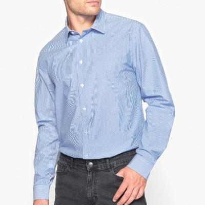 Pure Cotton Striped Slim Fit Shirt Pure Cotton Striped Slim Fit Shirt LA REDOUTE COLLECTIONS