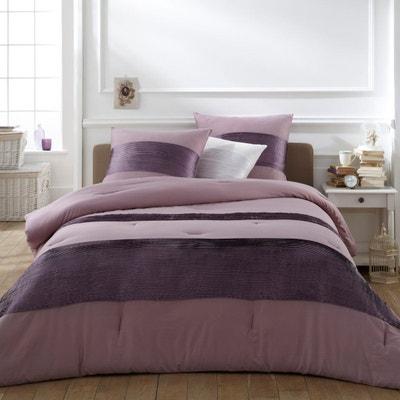 Couvre lit violet prune | La Redoute