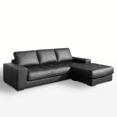 1c30ae91418654 Canapé d angle fixe confort supérieur, cuir, Arlon Canapé d angle fixe. LA  REDOUTE INTERIEURS