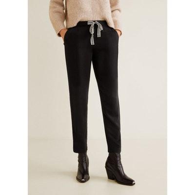 ae9f02d1b749 Pantalon fluide noir femme