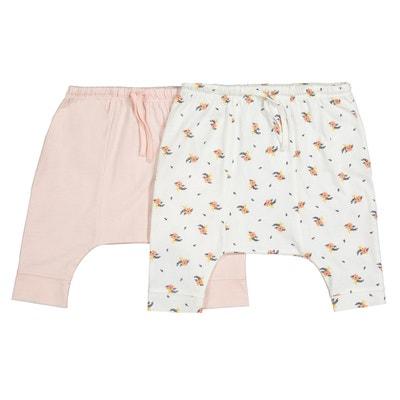 Lot de 2 pantalons sarouels en coton 0 mois-2 ans Lot de 2 pantalons 326b01dd8ff
