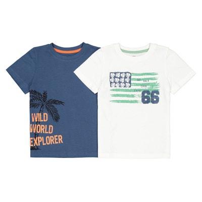b68f24d84cfd0 Lot de 2 t-shirts manches courtes 3-12 ans Lot de 2 t