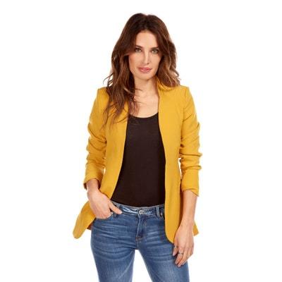 Veste tailleur jaune pale