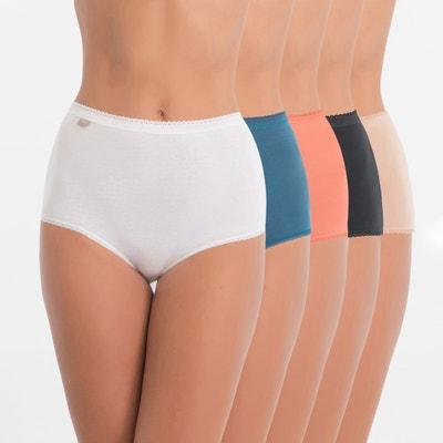 Confezione da 5 culotte maxi assortite Cotton Confezione da 5 culotte maxi assortite Cotton PLAYTEX