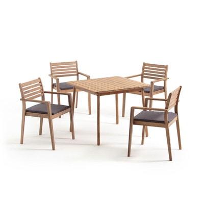 Salon de jardin table chaises la redoute for Salon de jardin la redoute