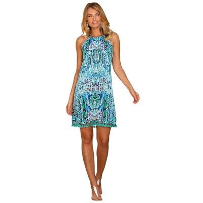 faa9abb32d8e2 Robe été imprimée reptile bleuté mode femme chic Kenya Robe été imprimée  reptile bleuté mode femme