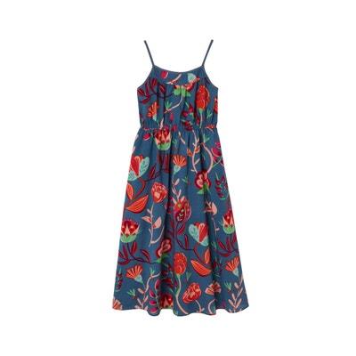 b3227a7cd6373 Robe longue sans manches imprimée fleurs VERTBAUDET