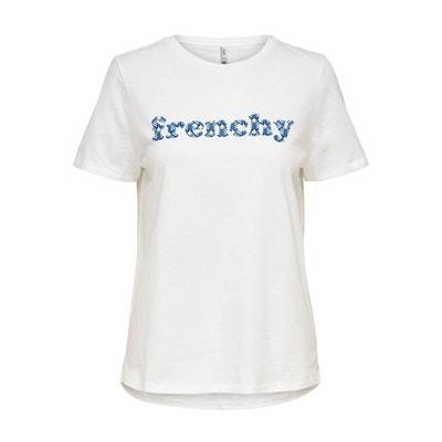 600e16950f967 T-shirt col rond, imprimé devant T-shirt col rond, imprimé devant