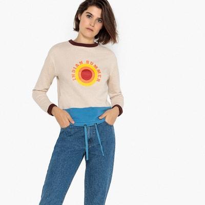 92409e4ff503 Indian Summer Slogan Print Cotton Mix Sweatshirt LA REDOUTE COLLECTIONS