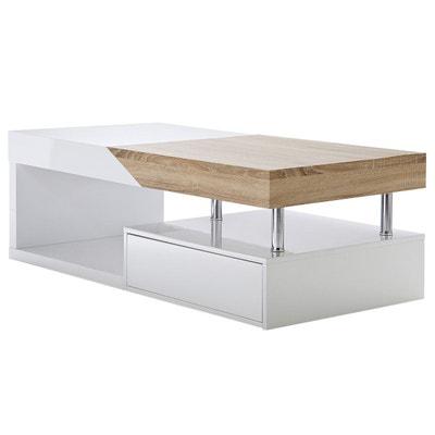 Table basse salon blanc laque en solde | La Redoute