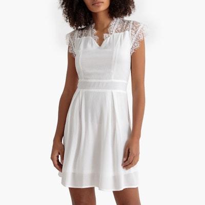 Korte jurk met schouders en achteraan in kant, zonder mouwen Korte jurk met schouders en achteraan in kant, zonder mouwen MOLLY BRACKEN