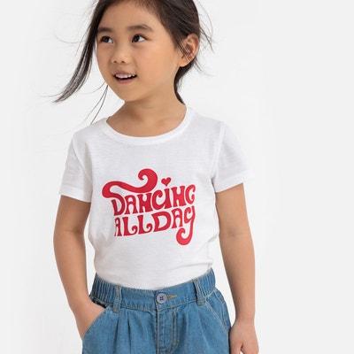 5d23a11067c96 T-shirt message imprimé poitrine 3-12 ans T-shirt message imprimé poitrine