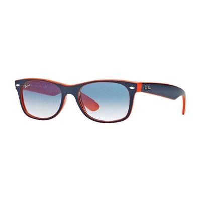 Ray Ban New Wayfarer 2132 Orange Bleu   Rayban   Rayban Taille   Visage fin  4f358190fcfe