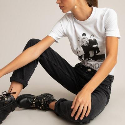 Maglietta a maniche corte scollo rotondo con stampa LC WAIKI da ragazza