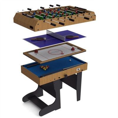 9eaf85ea20d566 Table De Jeu Pliable 4En1 12 Jeux Air Hockey Baby Foot Billard Table De Jeu  Pliable