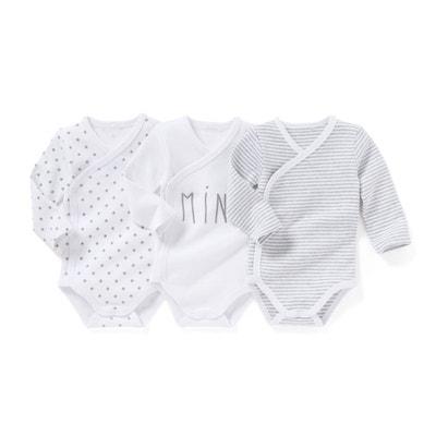 Lot de 3 bodies bébé 0 mois - 3 ans LA REDOUTE COLLECTIONS c49b94ce9e3