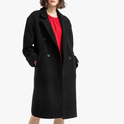 6882de26c Manteau long laine noir | La Redoute