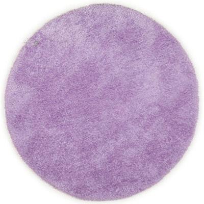Tapis rond violet   La Redoute